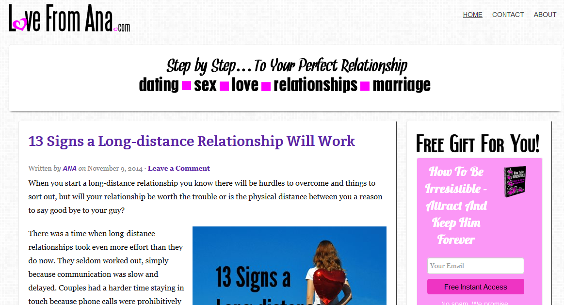 Relationship and dating blogs